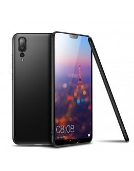 Carcasa protectie spate din gel TPU pentru Huawei P20 Pro, neagra