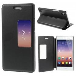 Husa protectie Smart View pentru Huawei Ascend P7 - neagra
