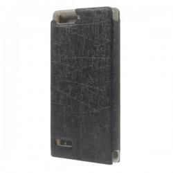 Husa de protectie Flip Cover pentru Huawei Ascend P7 Mini - neagra