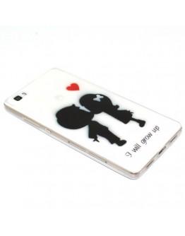 Carcasa protectie imprimata din gel TPU pentru Huawei Ascend P8 Lite