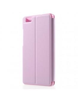 Husa protectie cu fereastra pentru Huawei Ascend P8 Lite - roz