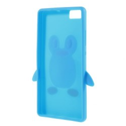 Carcasa protectie pinguin pentru Huawei Ascend P8 Lite - albastra
