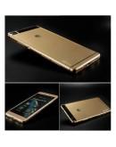 Carcasa protectie spate din gel TPU pentru Huawei Ascend P8 - gold