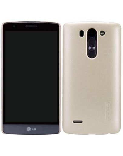 "Carcasa protectie spate ""Super Frosted"" + folie protectie ecran pentru LG G3 S Mini D722 - Gold"