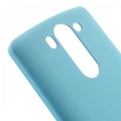 Carcasa protectie spate din plastic cauciucat pentru LG G3 D850 - albastra