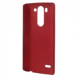 Carcasa protectie spate din plastic cauciucat pentru LG G3 S D722 - rosie
