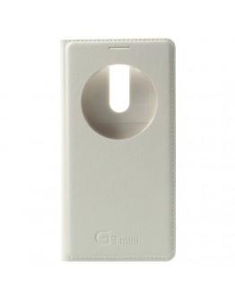 Husa protectie cu fereastra rotunda pentru pentru LG G3 S Mini - alba