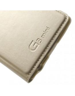 Husa protectie cu fereastra rotunda pentru pentru LG G3 S Mini - gold