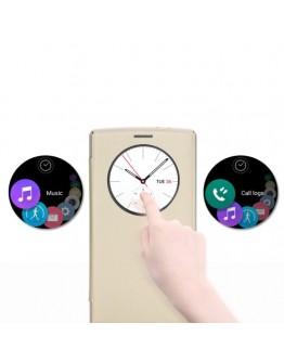 Husa protectie flip cover ROCK cu decupaj pentru LG G4 - gold