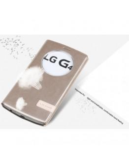 Husa protectie flip cover USAMS cu decupaj pentru LG G4 - gold