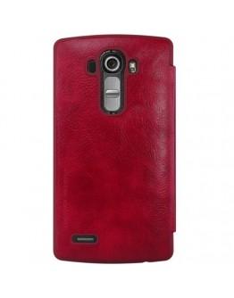 Husa protectie flip cover Nillkin cu decupaj pentru LG G4 - rosie