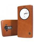 Husa protectie flip cover Nillkin cu decupaj pentru LG G4 - maro