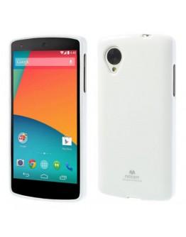 Carcasa protectie spate din gel TPU pentru LG Google Nexus 5 - alba