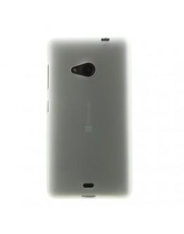 Carcasa protectie spate din gel TPU pentru Microsoft Lumia 535 - alba
