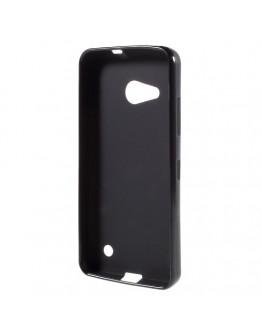 Carcasa protectie spate mata din gel TPU pentru Microsoft Lumia 550 - neagra