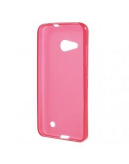 Carcasa protectie spate mata din gel TPU pentru Microsoft Lumia 550 - roz