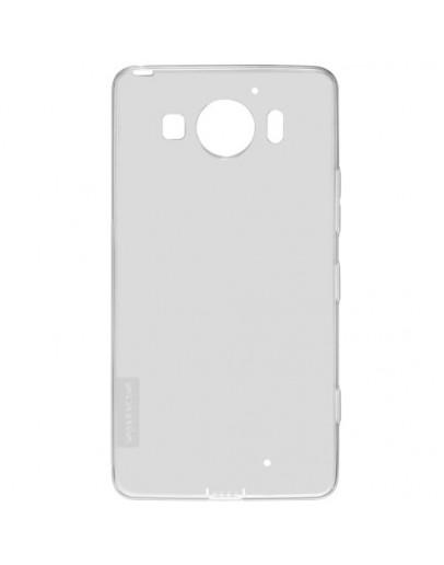 Carcasa protectie spate 0.6mm din gel TPU pentru Microsoft Lumia 950 - gri