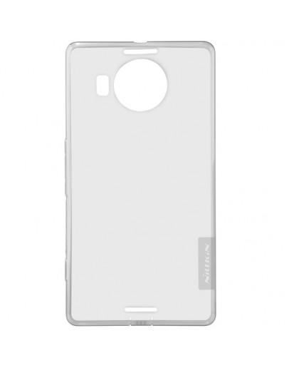 Carcasa protectie spate 0.6mm din gel TPU pentru Microsoft Lumia 950 XL - gri