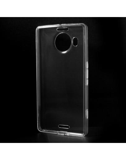 Carcasa protectie spate din gel TPU pentru  Microsoft Lumia 950 XL - transparenta