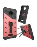 Carcasa protectie spate cu suport pentru Motorola Moto Z, rosie