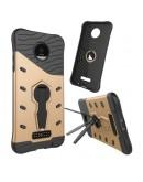 Carcasa protectie spate cu suport pentru Motorola Moto Z, gold