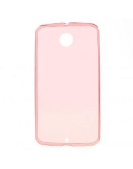 Carcasa protectie spate 0.6mm pentru Motorola Nexus 6 - rosie