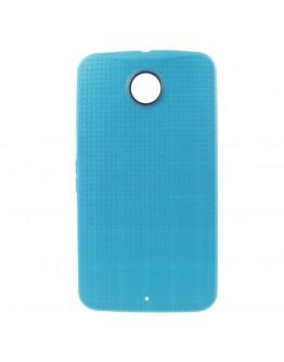 "Carcasa protectie spate ""Mesh"" pentru Motorola Nexus 6 - albastra"