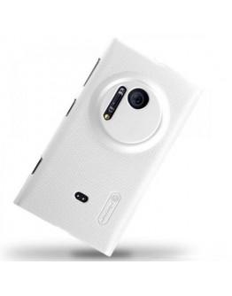 Carcasa protectie spate + folie ecran pentru Nokia Lumia 1020 - alba