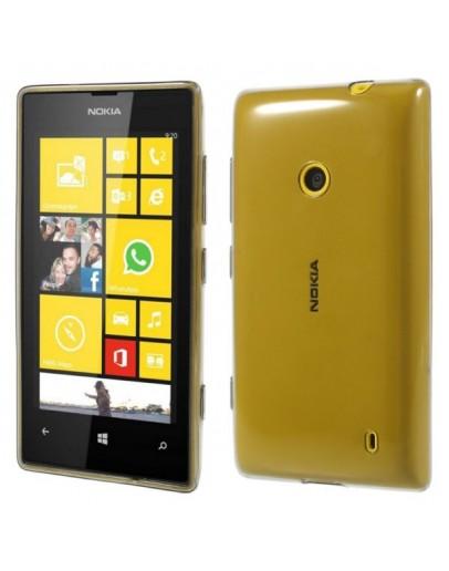 Carcasa protectie spate 0.6 mm pentru Nokia Lumia 520/525 - gri