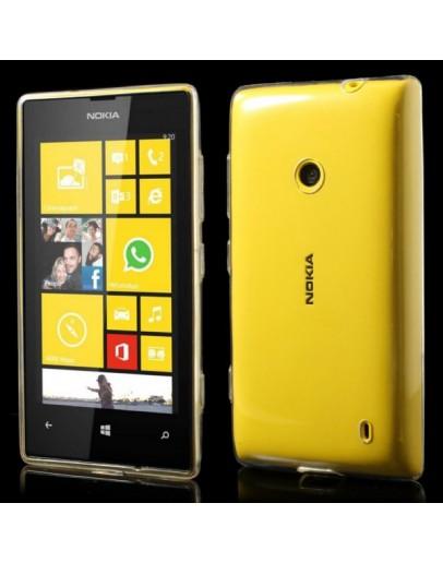 Carcasa protectie spate 0.6 mm pentru Nokia Lumia 520/525 - tranparenta