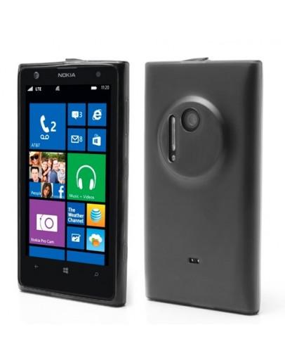 Carcasa protectie spate cu dopuri anti-praf pentru Nokia Lumia 1020 - gri