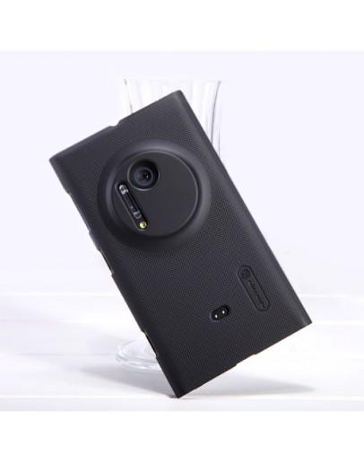 Carcasa protectie spate + folie ecran pentru Nokia Lumia 1020 - neagra