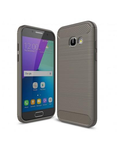 Carcasa protectie spate din gel TPU pentru Samsung Galaxy A3 (2017), gri