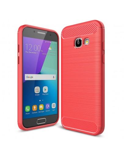 Carcasa protectie spate din gel TPU pentru Samsung Galaxy A3 (2017), rosie