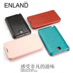 Flip Cover din piele pentru Samsung Galaxy Note N7000 / I9220