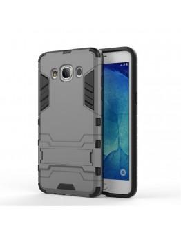 Carcasa protectie spate din gel TPU si plastic pentru Samsung Galaxy J5 (2016), gri