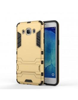Carcasa protectie spate din gel TPU si plastic pentru Samsung Galaxy J5 (2016), gold