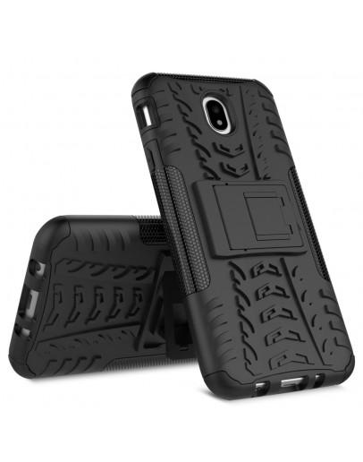Carcasa protectie spate anti-alunecare pentru Samsung Galaxy J7 G730 (2017), Negru
