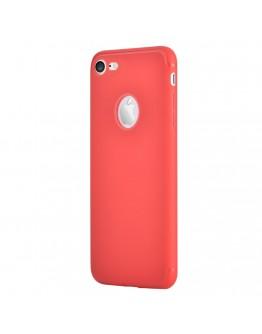 Carcasa protectie spate din gel TPU pentru iPhone 7, rosie