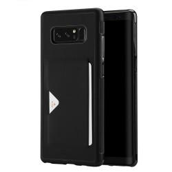 Carcasa protectie spate cu suport pentru card pentru Samsung Galaxy Note 8, neagra