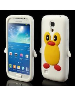 Carcasa protectie spate pinguin din silicon pentru Samsung Galaxy S4 mini I9190 - alba
