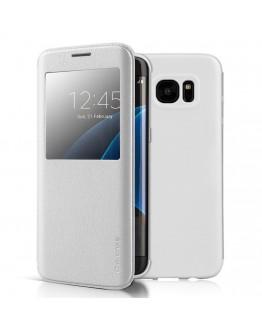 Husa protectie cu fereastra G-Case pentru Samsung S7 Edge G935, alba