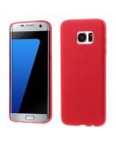 Carcasa de protectie mata din gel TPU pentru Samsung Galaxy S7 EdgeG935, rosie