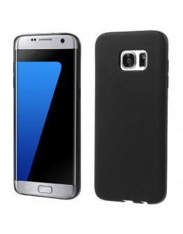 Carcasa de protectie mata din gel TPU pentru Samsung Galaxy S7 EdgeG935, neagra