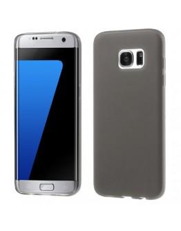 Carcasa de protectie mata din gel TPU pentru Samsung Galaxy S7 Edge G935, gri