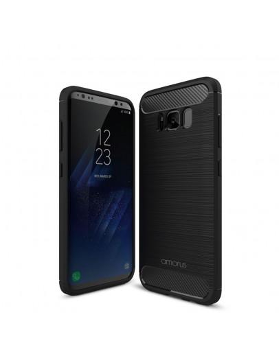 Carcasa protectie AMORUS din gel TPU pentru Samsung Galaxy S8+ G955, Neagra