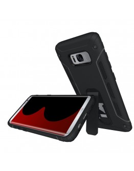 Carcasa protectie spate 2 in 1 pentru Samsung Galaxy S8+ G955, neagra