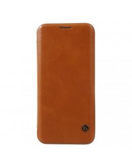 Husa protectie G-Case din piele ecologica pentru Samsung Galaxy S8, maro