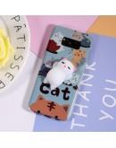 Carcasa protectie spate cu pisica Squishy pentru Samsung Galaxy S8, albastru deschis