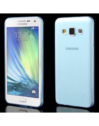Carcasa protectie spate 0.6mm din gel TPU pentru Samsung Galaxy A3 SM-A300F - albastra